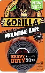 Gorilla 6055001 Heavy Duty Mounting Tape, Double-Sided-min